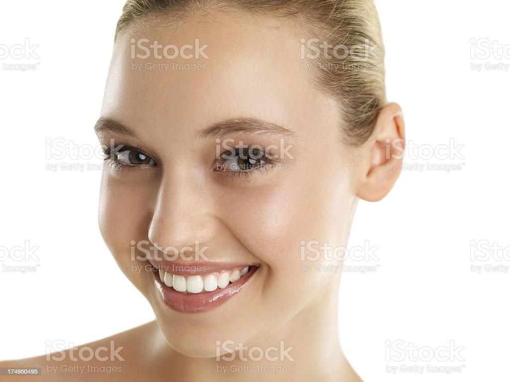 Smooth, glowing skin royalty-free stock photo