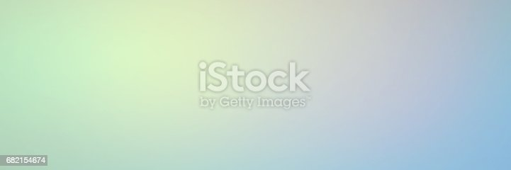 istock Smooth gradient background with pastel Lime green and blue colors 682154674