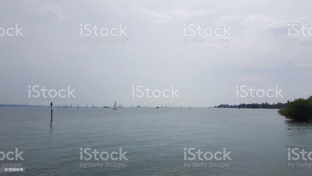 A smooth lake stock photo
