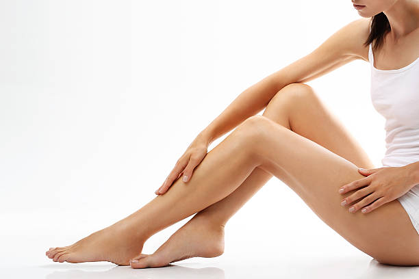 smooth legs - human leg stock photos and pictures