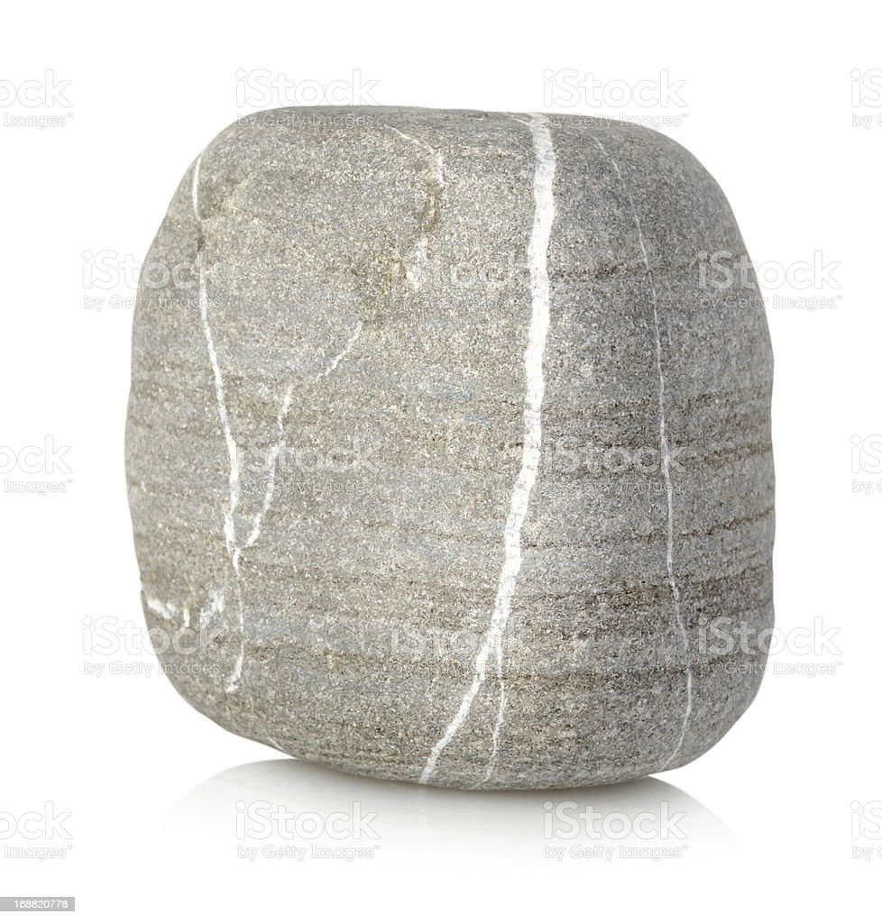 A smooth lump of grey and white natural stone stock photo