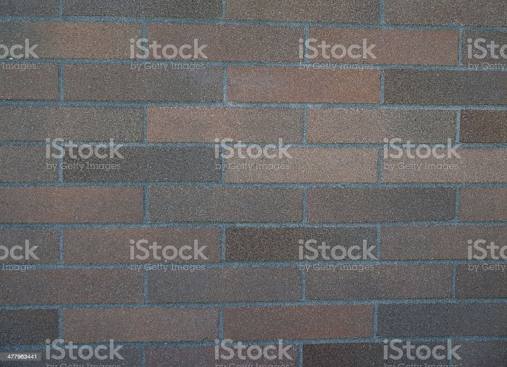 Smooth, multi colored brick background royalty-free stock photo