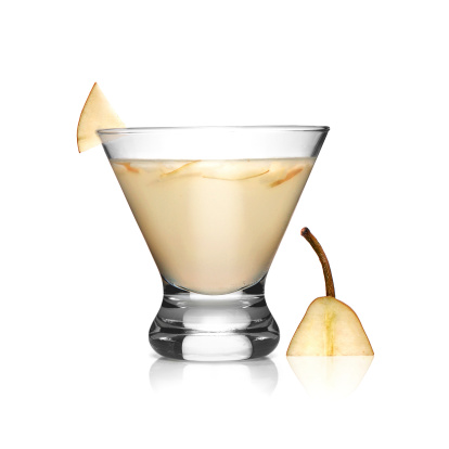 Smooth Pear Cocktail On White Stock Photo - Download Image Now