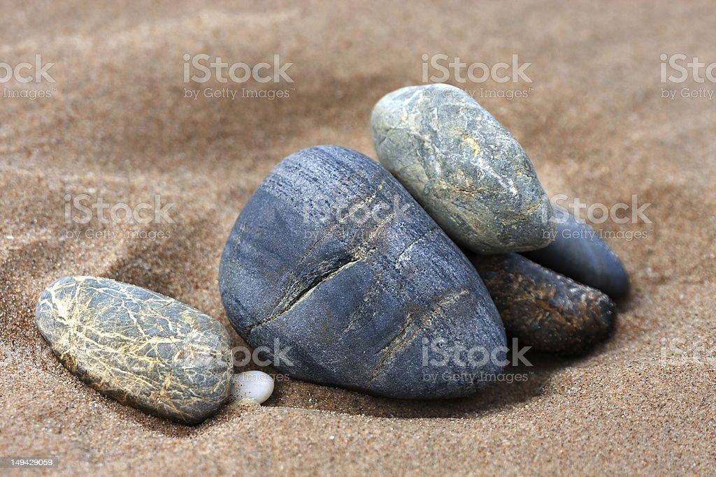 Smooth pebbles stock photo
