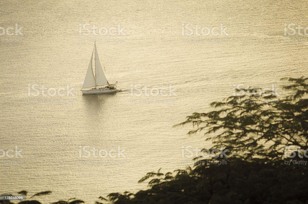 smooth sailing royalty-free stock photo