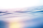 Close-up of rippled sea surface. Background with colorful light leaks.