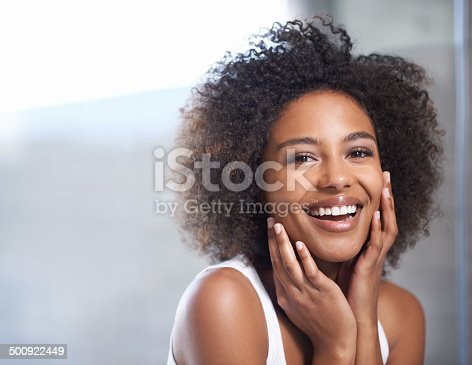 istock Smooth skin puts a smile on her face 500922449