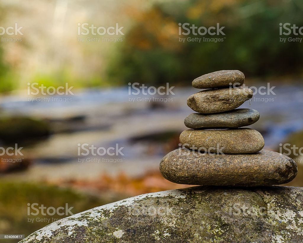 Smooth Stacked Stones stock photo