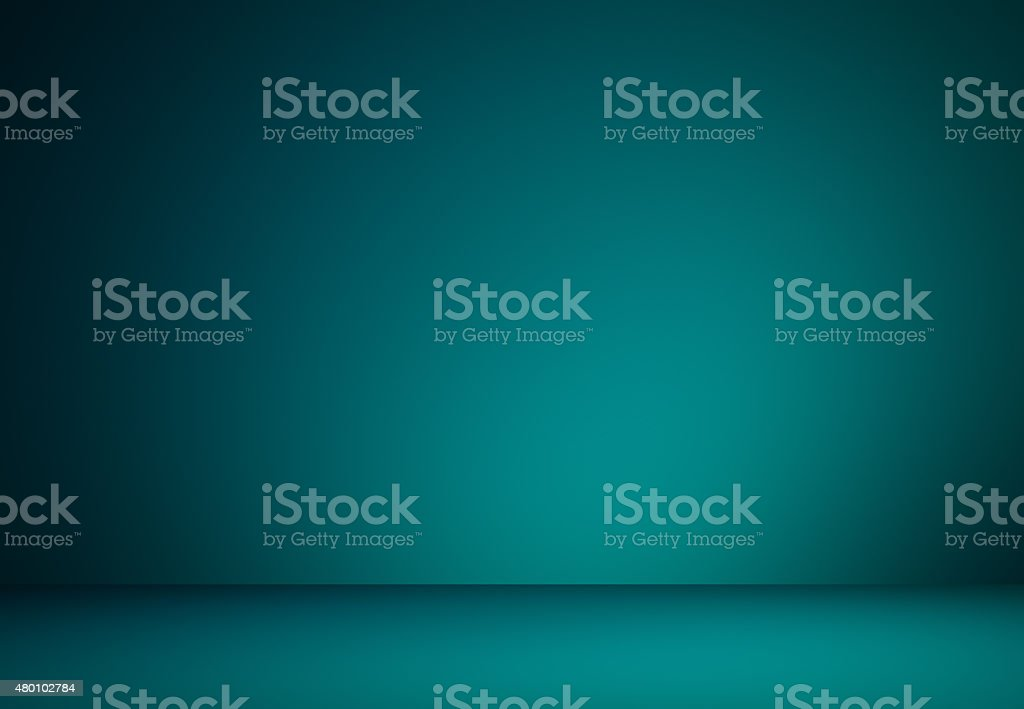 Smooth Turquoise with Black vignette Studio well use as backgrou stock photo