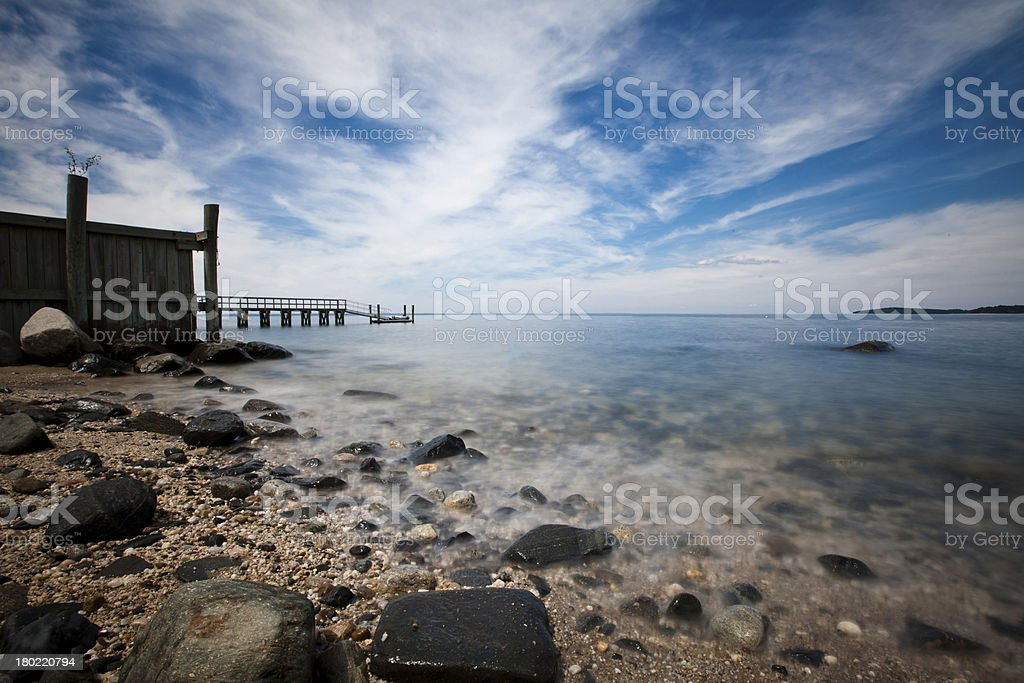 smooth water with cloudscape royalty-free stock photo