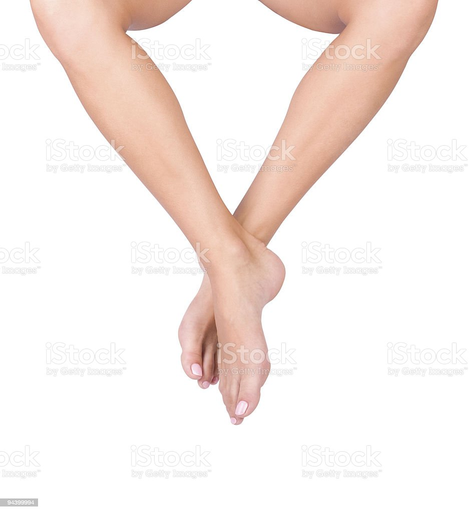 Smooth woman's legs royalty-free stock photo