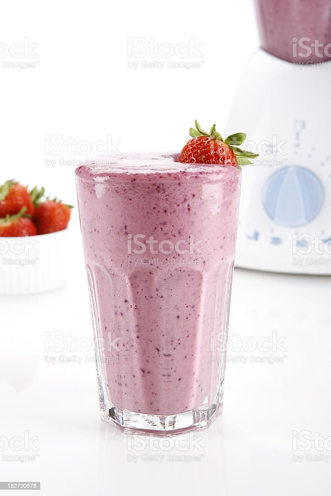 Smoothie and blender royalty-free stock photo