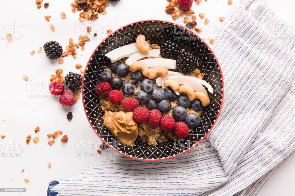 Smoothie - granola stock photo