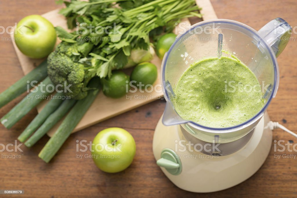 Smoothie in a blender stock photo