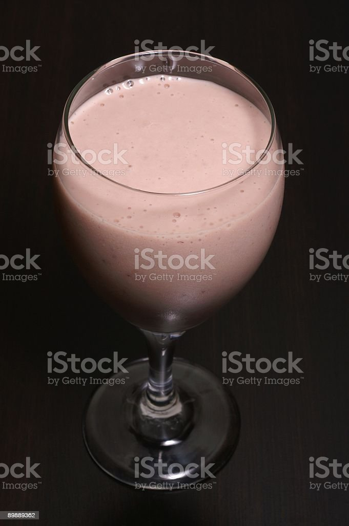 Smoothie in a Wine Glass royalty-free stock photo