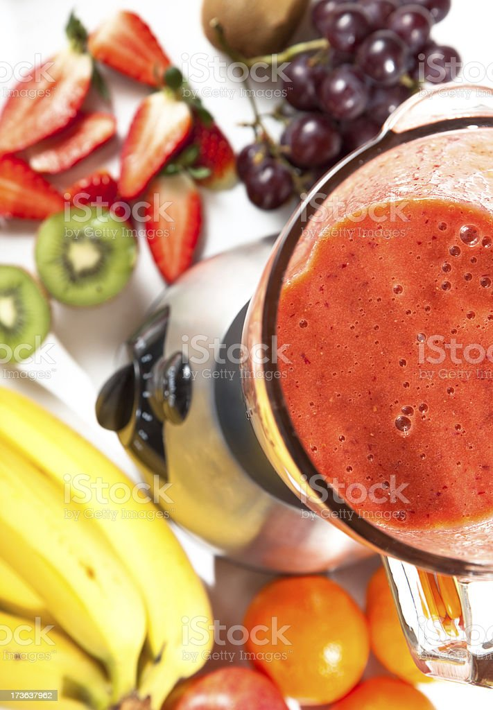 smoothie in blender royalty-free stock photo