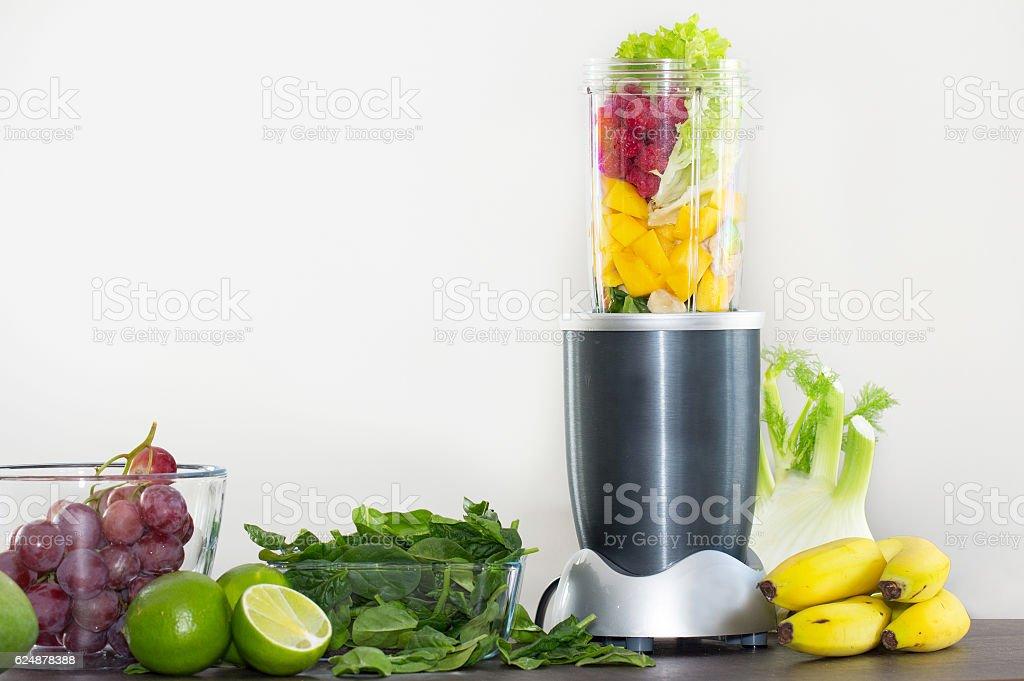 smoothie ingredients in blender - Photo