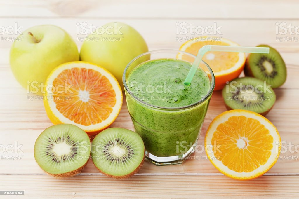 Smoothie or juice, detox and diet food, healthy breakfast stock photo