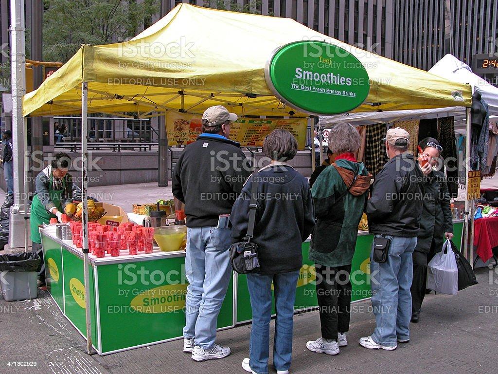 Smoothie Stall Sunday Street Market Sixth Avenue Nyc Stock