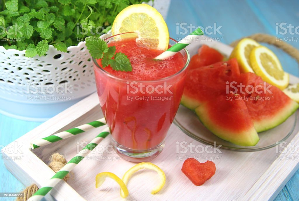 Smoothies from watermelon stock photo