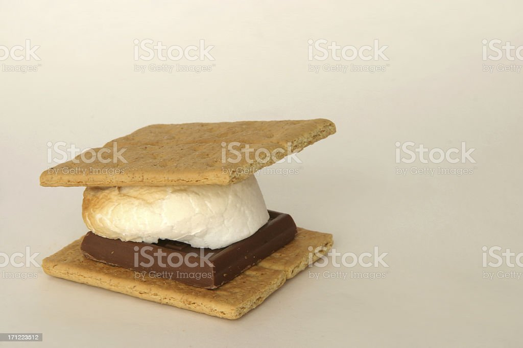 s'more camping treat royalty-free stock photo