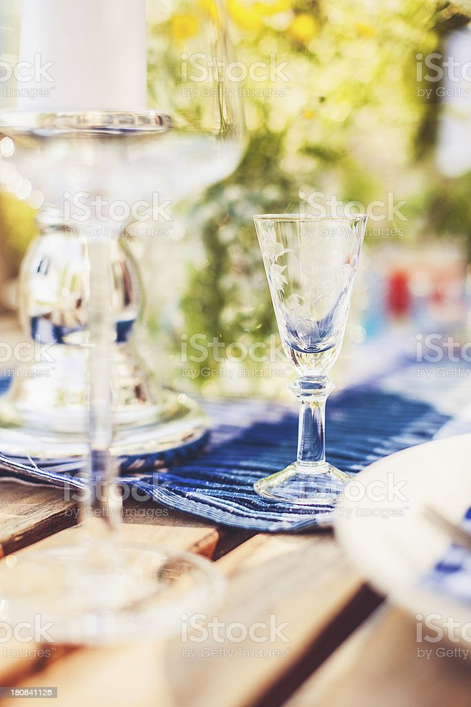 Smörgåsbord table setting stock photo