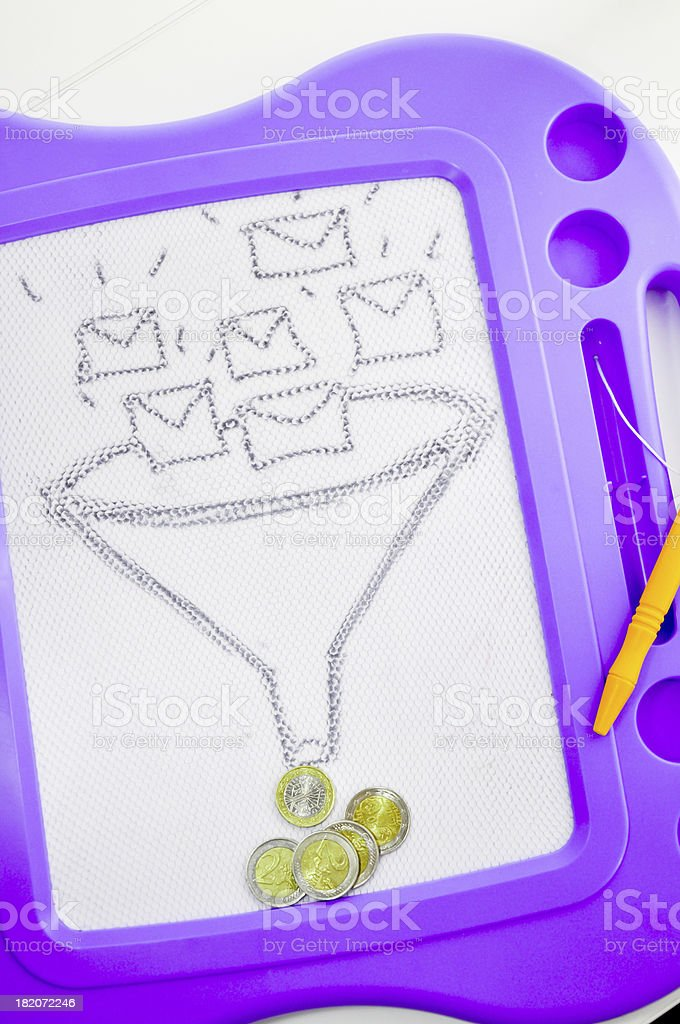 sms or e-mail marketing stock photo