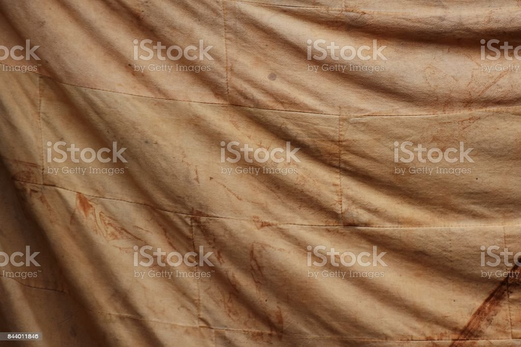 smudge on old brown cloth for background stock photo