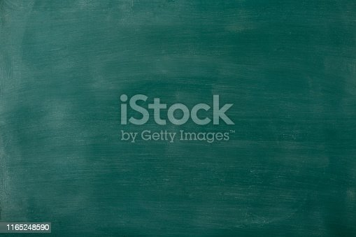 Close-up of smudged blank blackboard texture background.