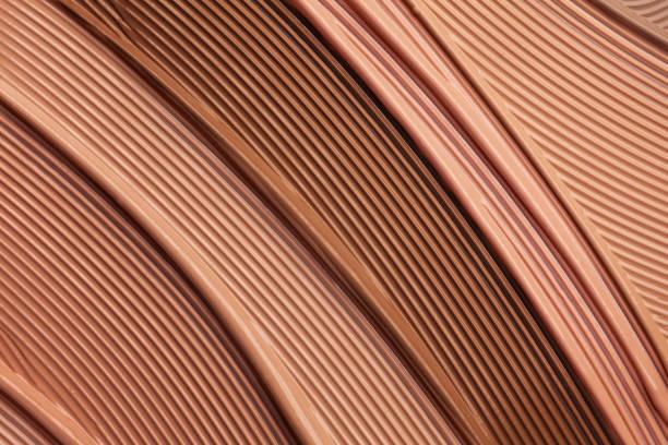 smetas choklad beige rosa kosmetisk make-up gradient textur palett krämig matt concealer foundation cc eller bb-grädde pulver - brun beskrivande färg bildbanksfoton och bilder