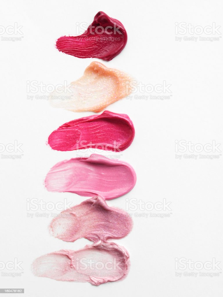 Smudged  Lipstick royalty-free stock photo
