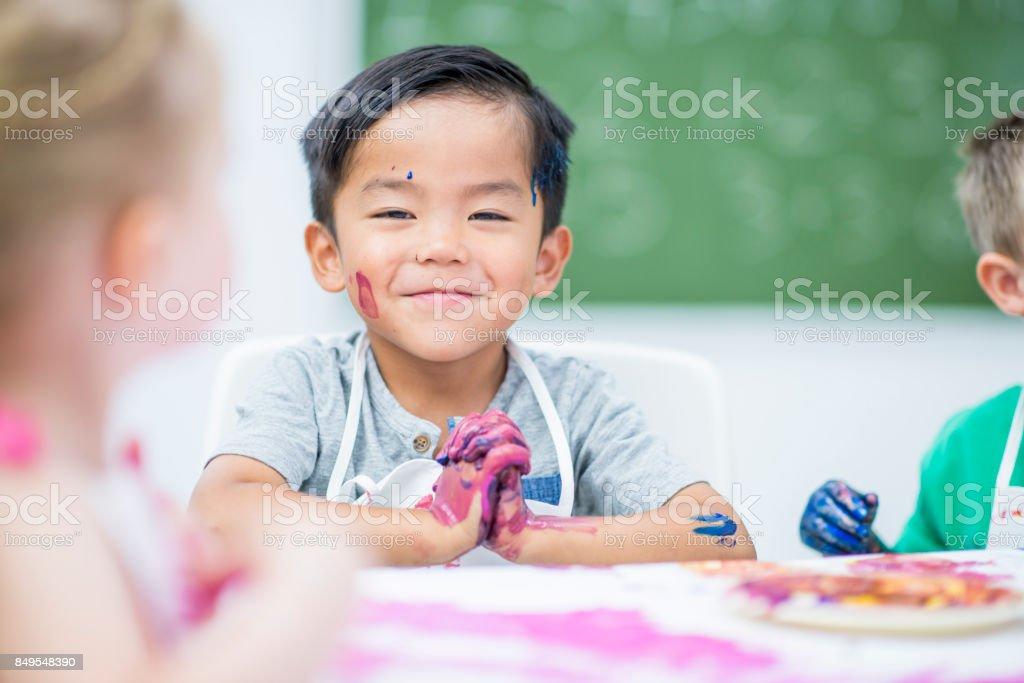 Smug Boy stock photo