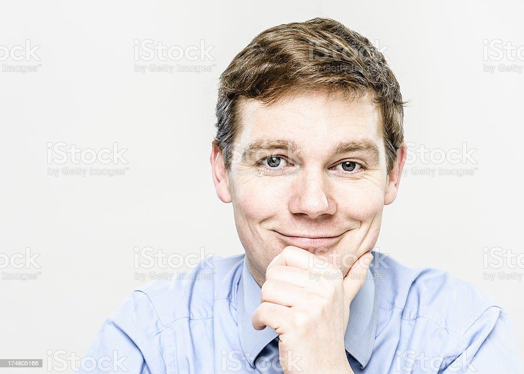 Smug Businessman royalty-free stock photo