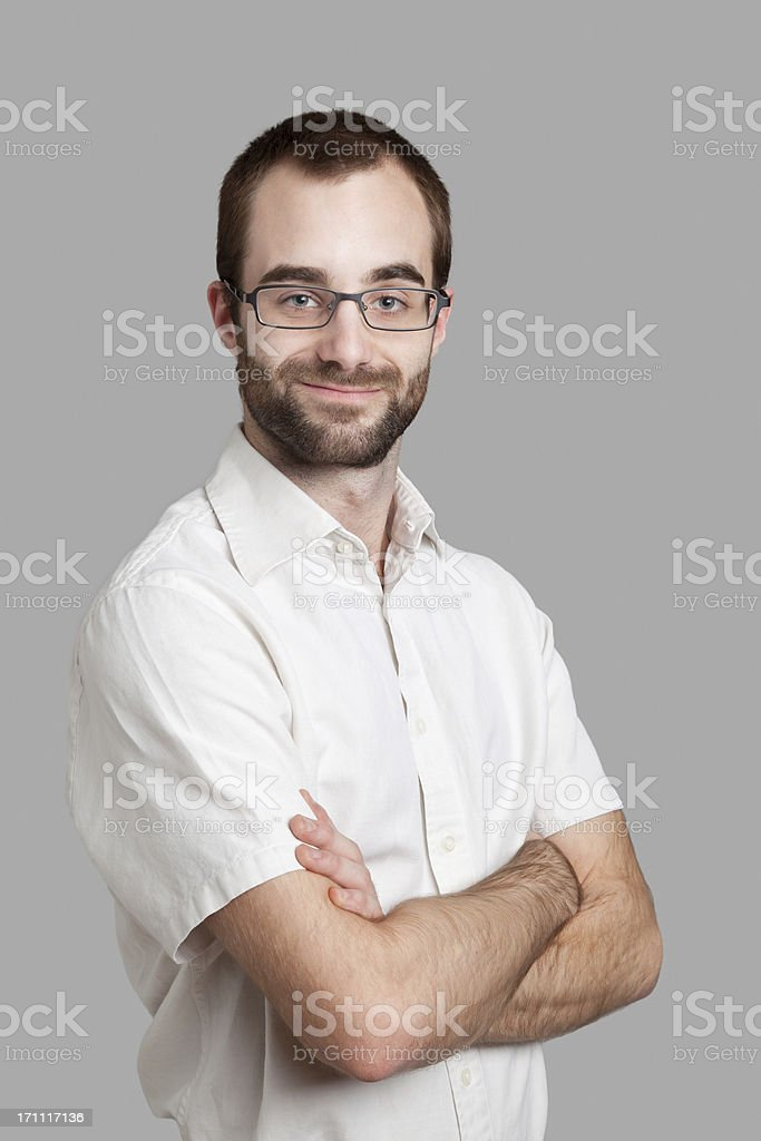 Smug Intellectual Man stock photo