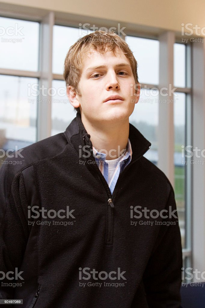 Smug Young Man royalty-free stock photo