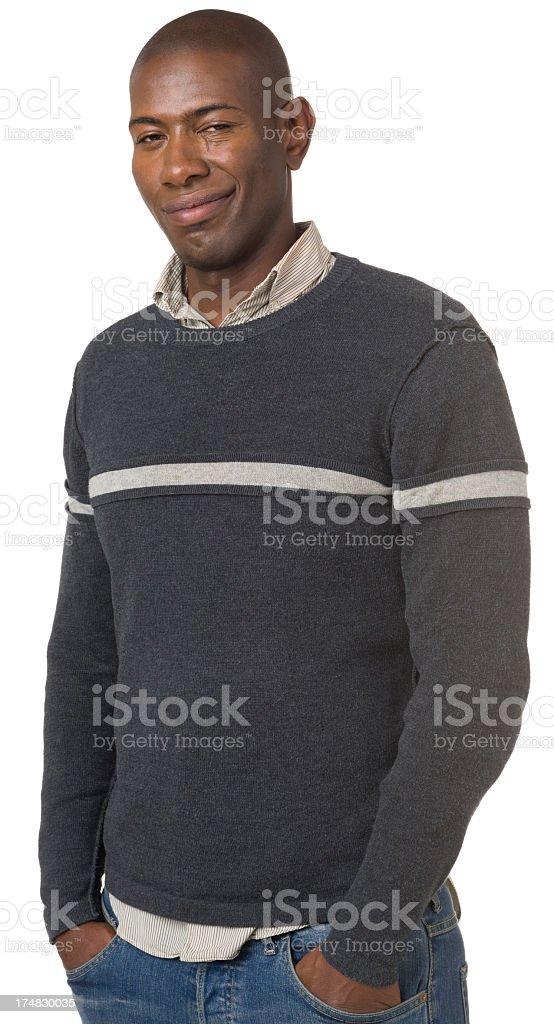 Smug Young Man Portrait royalty-free stock photo