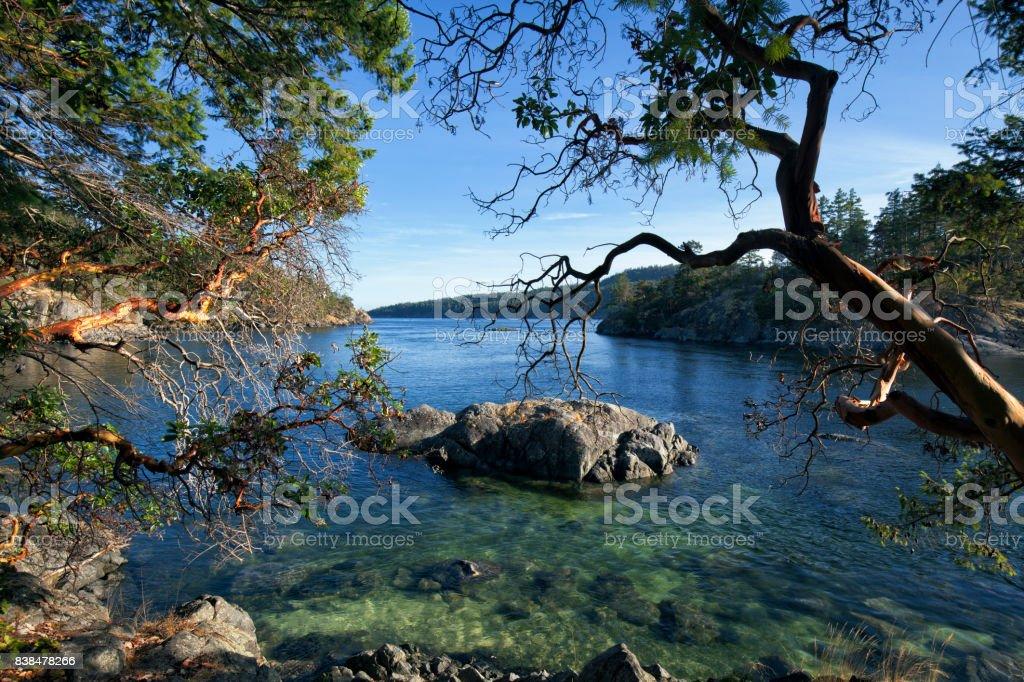 Smuggler Cove, Sunshine Coast, BC , Canada stock photo