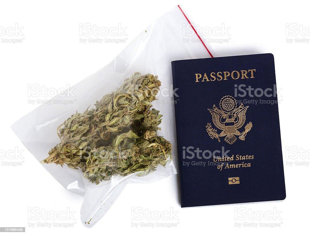 Smuggling Marijuana royalty-free stock photo