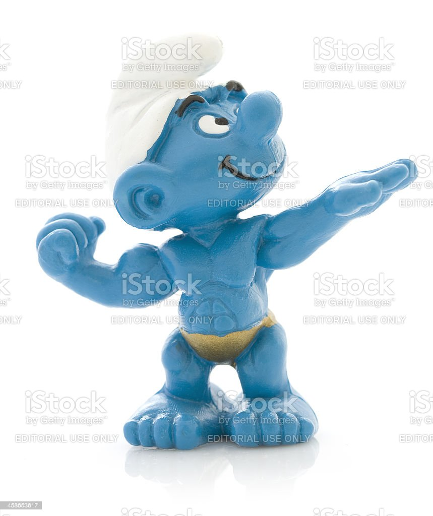 Smurf as bodybuilder. royalty-free stock photo