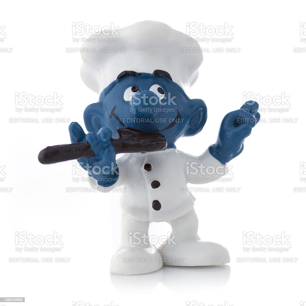 Smurf as chef stock photo