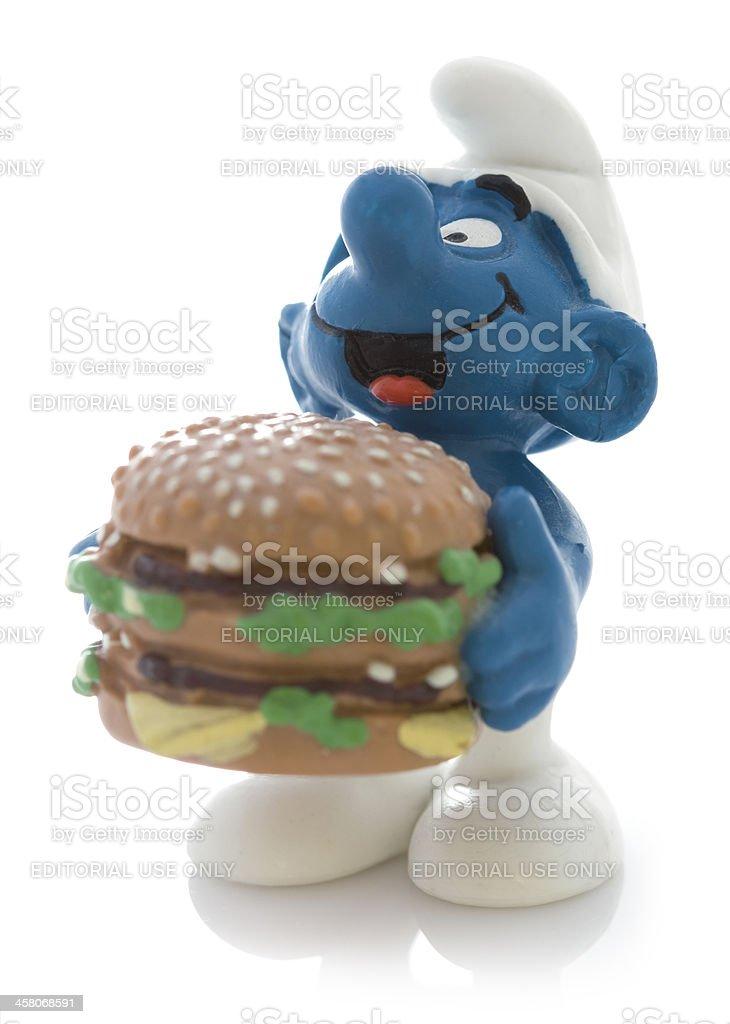 Schlumpf Mit Burger Stock-Fotografie und mehr Bilder von Fotografie ...