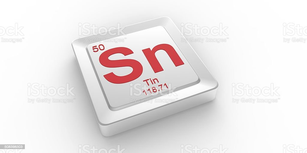 Sn Symbol 50 Material For Tin Chemical Element Stock Photo More