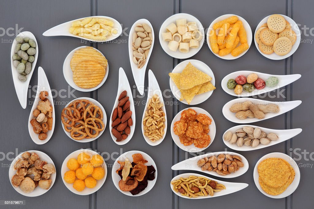 Snack Food Selection stock photo