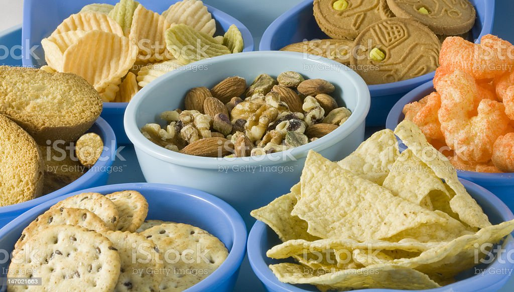 Snack Foods in Containers stock photo