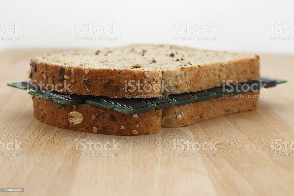 Snack for a ram eater royalty-free stock photo