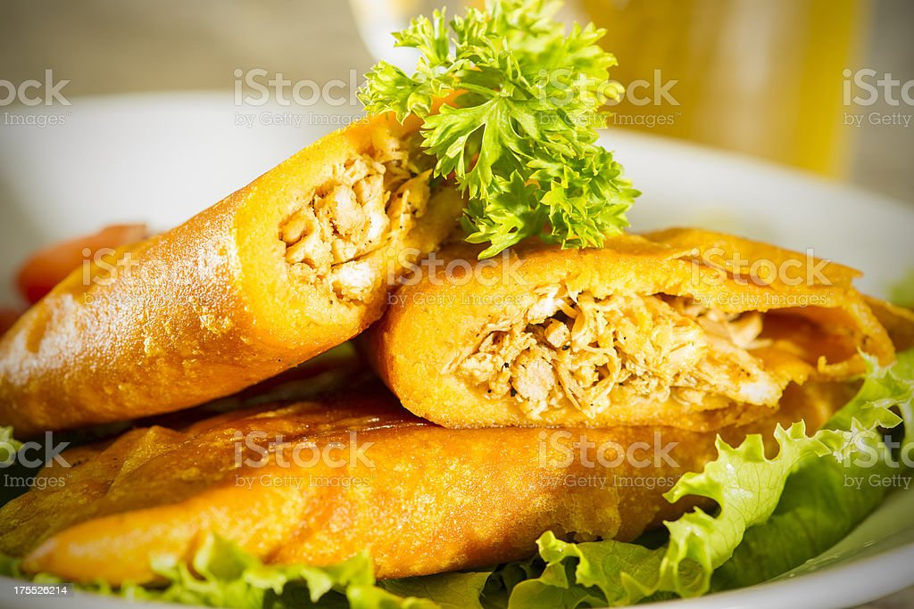 Snack of empanadas stock photo
