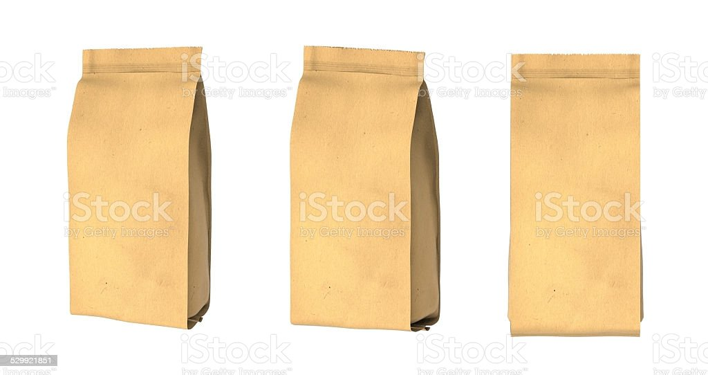 Snack package cardboard.Packing for the isolation of the product. stock photo