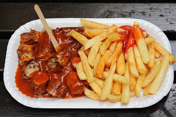 snack - currywurst stock-fotos und bilder