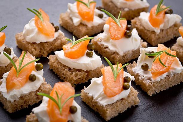 snack-set mit geräuchertem Lachs – Foto