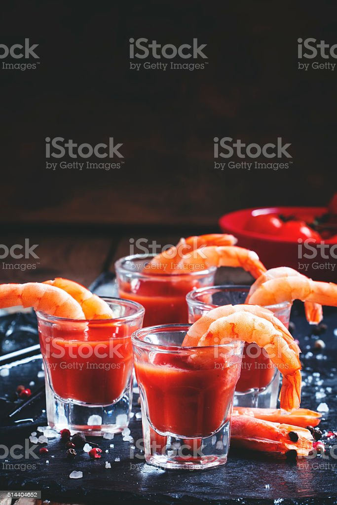 Snack shrimp cocktail stock photo